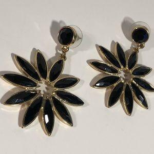 Black & Gold Statement Earrings ✨